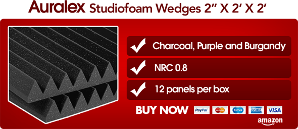 Buy Auralex Studiofoam Wedges